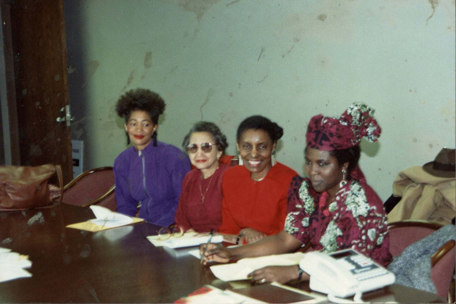 TESS ONWUEME FEATURED WITH WRITERS TERRY MCMILLAN, NAOIMI LONMAGETT, GLORIA HOUSE, Detriot, 1990