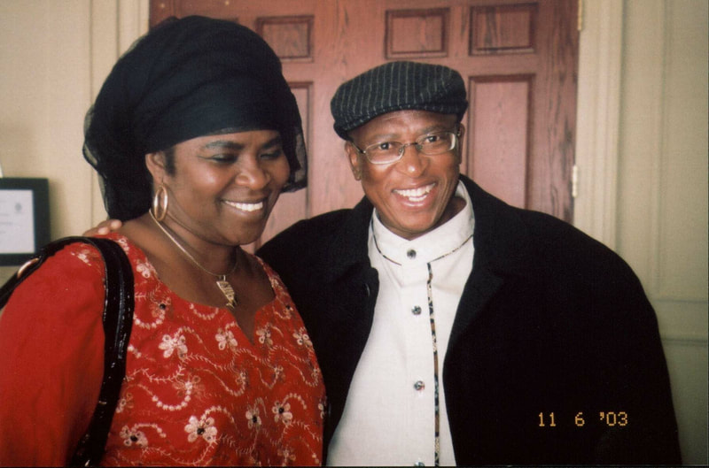 Tess Onwueme with Zakes Mda, 2009.
